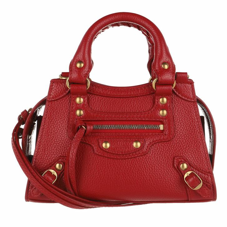 Handtasche, Balenciaga, Neo Classic City Nano Bag Grained Calfskin Medium Red