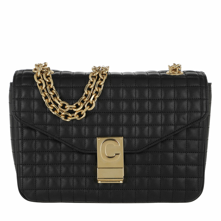 Handtasche, Celine, C Bag Medium Quilted Calfskin Black