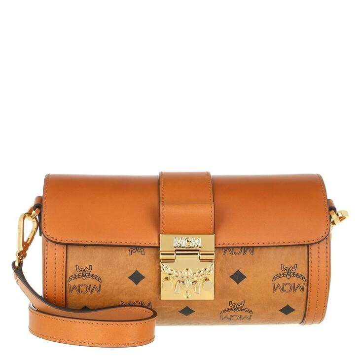 Handtasche, MCM, Tracy Visetos Crossbody Small  Cognac