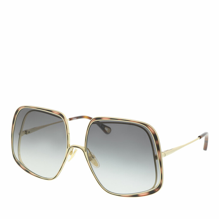 Sonnenbrille, Chloé, Sunglass WOMAN METAL GOLD-GOLD-GREY