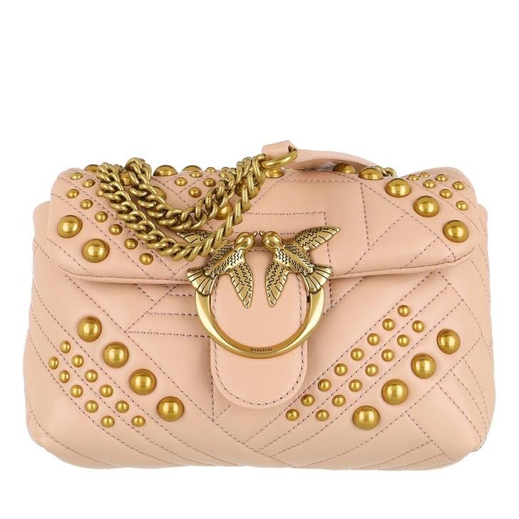 Handtasche, Pinko, Love Mini Puff Woven Studs Crossbody Rose Dust Pink