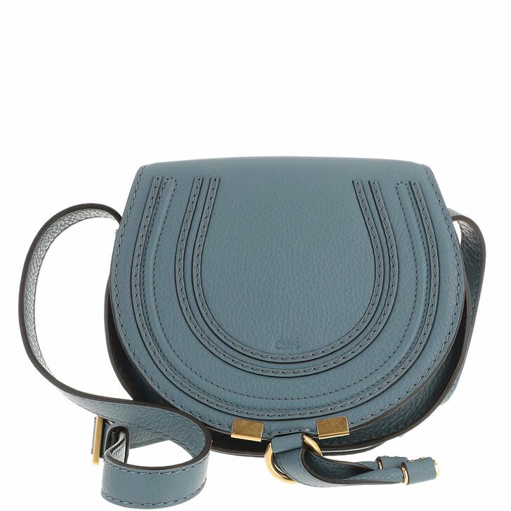Handtasche, Chloé, Marcie Shoulder Bag Small Mirage Blue