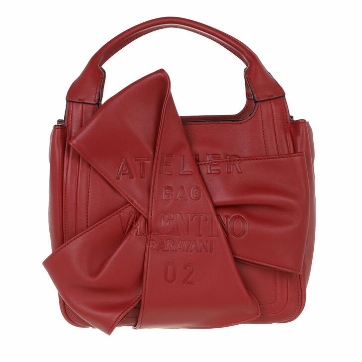 bags, Valentino Garavani, Small Atelier Tote Bag Red