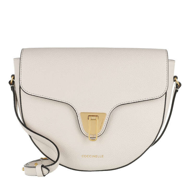 bags, Coccinelle, Beat Soft Flap Crossbody Bag Lambskin White