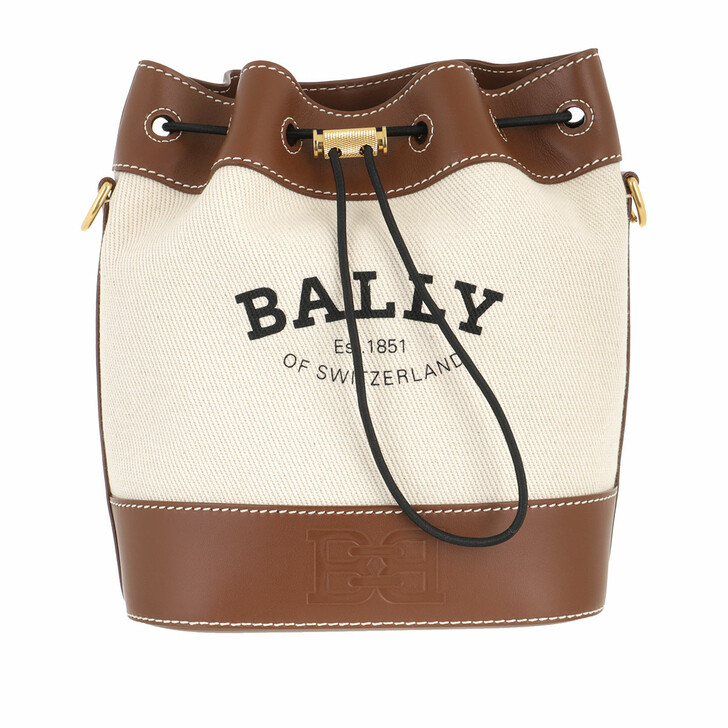 Handtasche, Bally, Cleoh Bucket Bag Natural