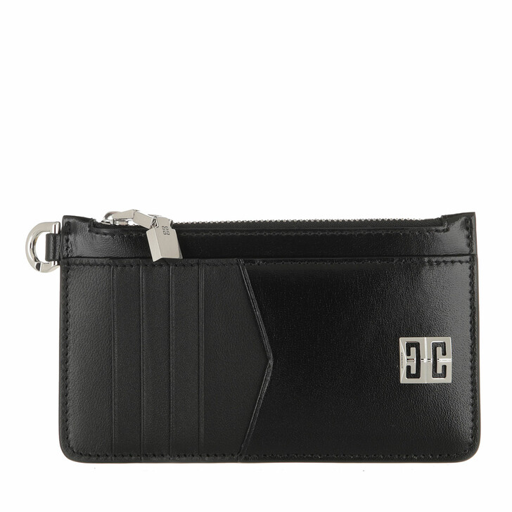 wallets, Givenchy, 4G Cardholder Leather Black