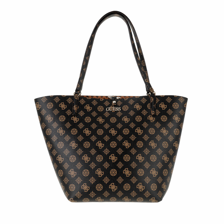 bags, Guess, Alby Toggle Tote Mocha/Cognac