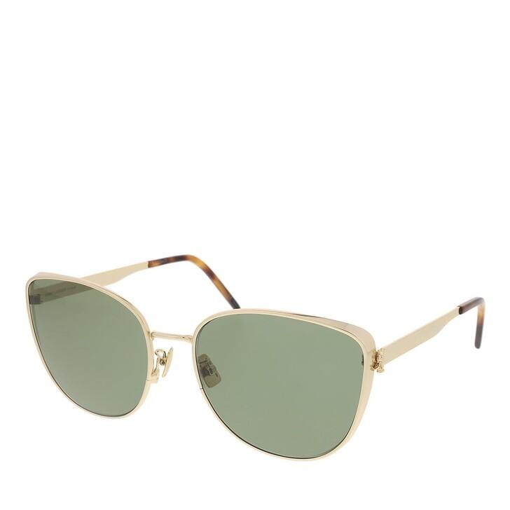 sunglasses, Saint Laurent, SL M89-003 61 Sunglass Woman Metal Gold-Gold-Green