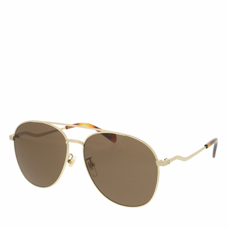 Sonnenbrille, Gucci, GG0969S-002 59 Sunglass WOMAN METAL GOLD