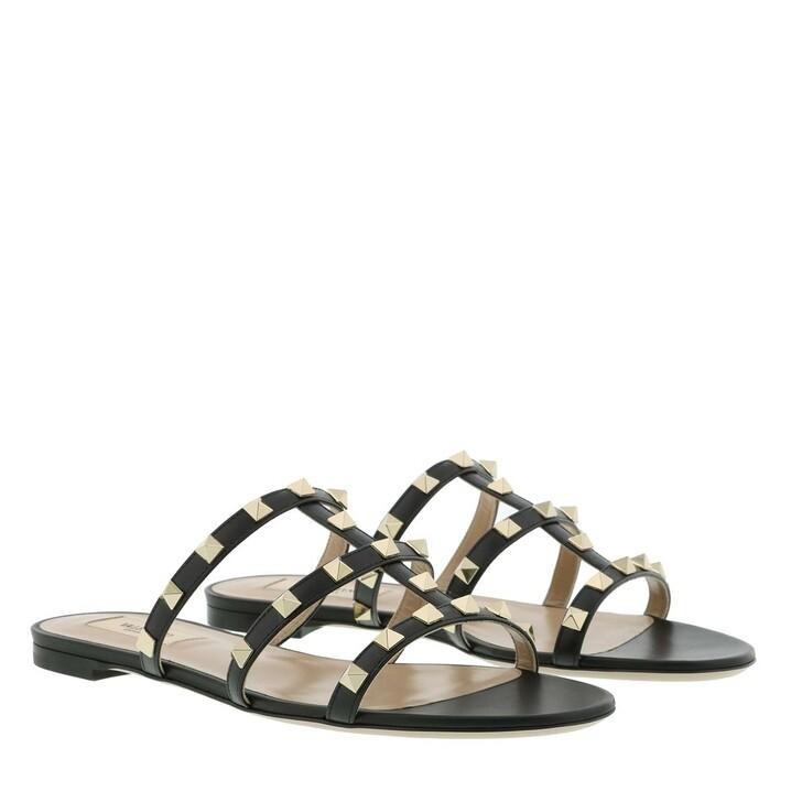 Schuh, Valentino, Flat Sandals Black