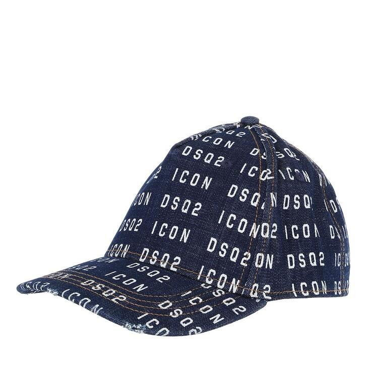 hats, Dsquared2, Icon Allover Baseball Cap Denim