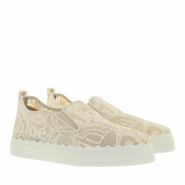 shoes, Chloé, Lauren Slip On Sneaker Lace Mild Beige