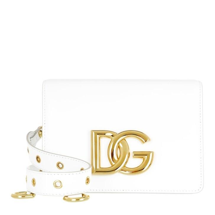 bags, Dolce&Gabbana, Shoulder Bag Leather White