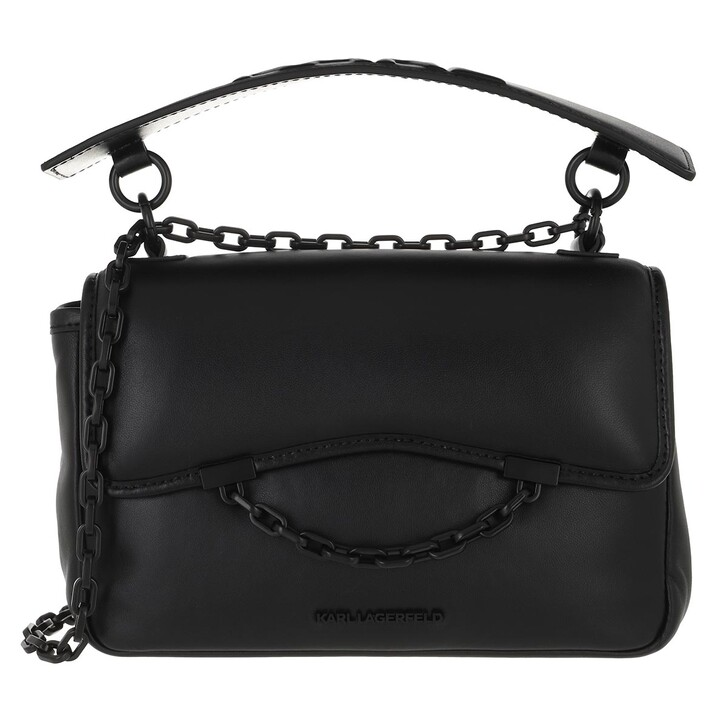 bags, Karl Lagerfeld, Karl Seven Soft Shoulderbag  Black
