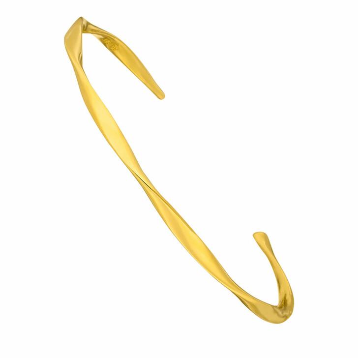 Armreif, Leaf, Bracelet Twist 18K Yellow Gold-Plated