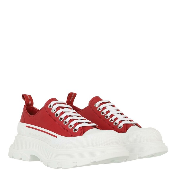 shoes, Alexander McQueen, Tread Slick Lace Up Galaxy Sneakers Red