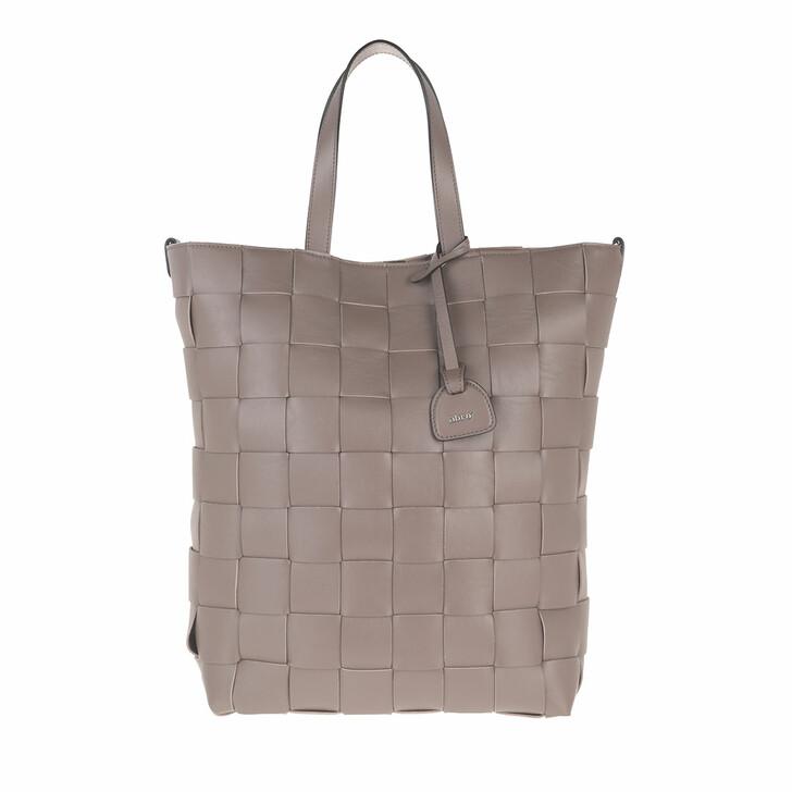 Handtasche, Abro, Shopper Chessboard Taupe