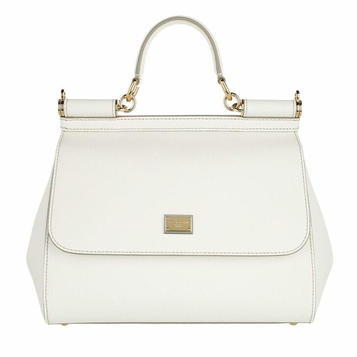 bags, Dolce&Gabbana, Sicily Tote Bag Medium White