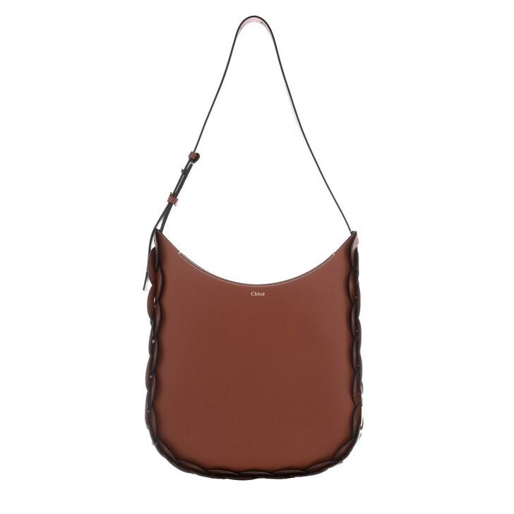 Handtasche, Chloé, Darryl Shoulder Bag Leather Sepia Brown