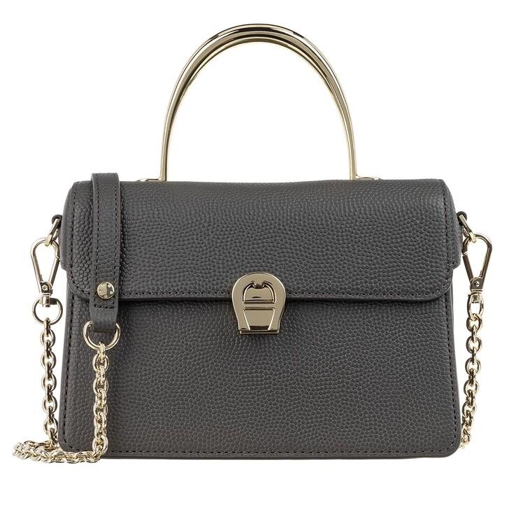 Handtasche, AIGNER, Genoveva Pochette Bag Mud Green