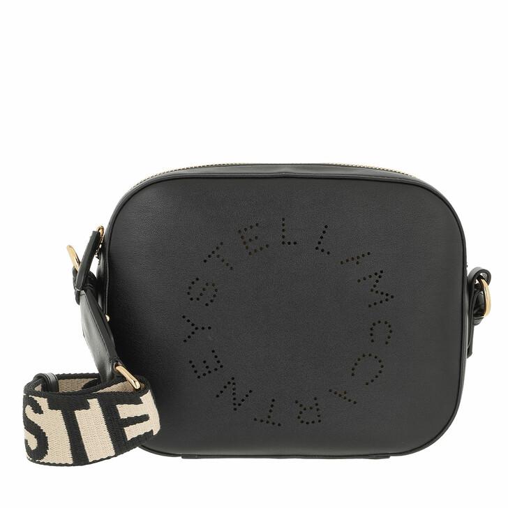 bags, Stella McCartney, Small Logo Crossbody Bag Black