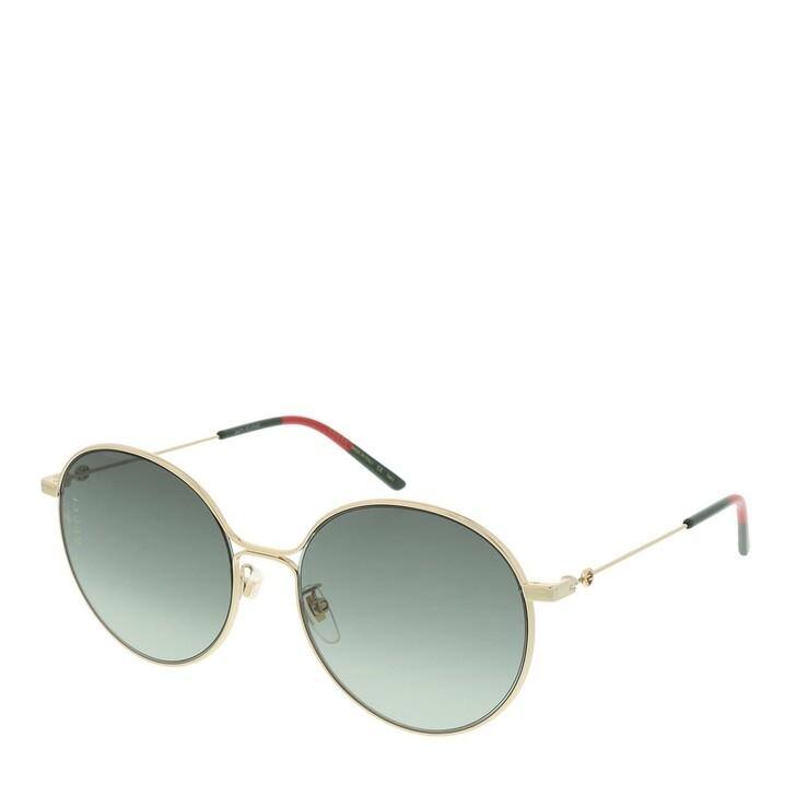 Sonnenbrille, Gucci, GG0395SK-002 56 Sunglass WOMAN METAL GOLD