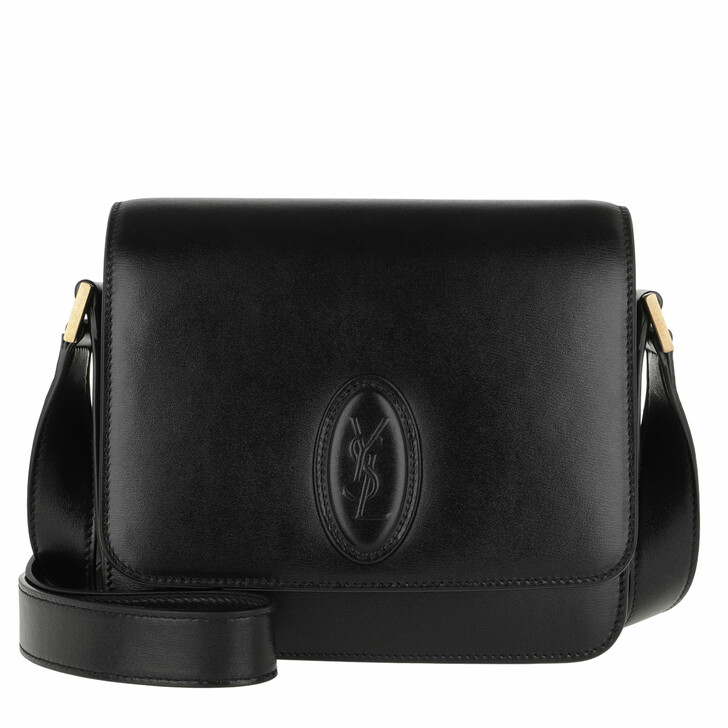 Handtasche, Saint Laurent, LE 61 Small Saddle Bag Smooth Leather Black