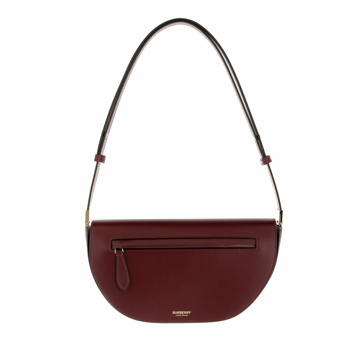 bags, Burberry, Olympia Small Shoulder Bag Leather Burgundy