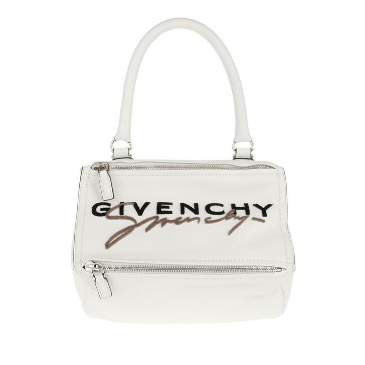 bags, Givenchy, Pandora Logo Tote Bag Leather White