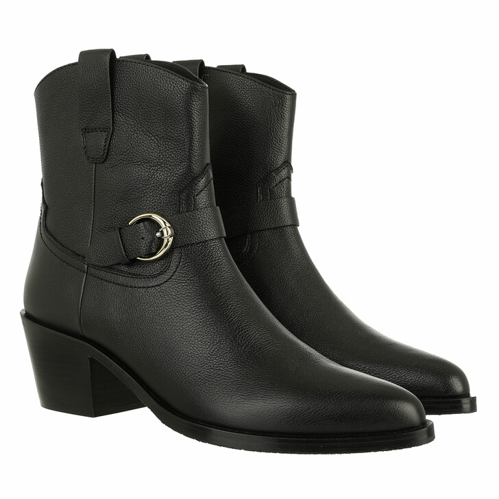 shoes, AIGNER, Western Style Bootie Black