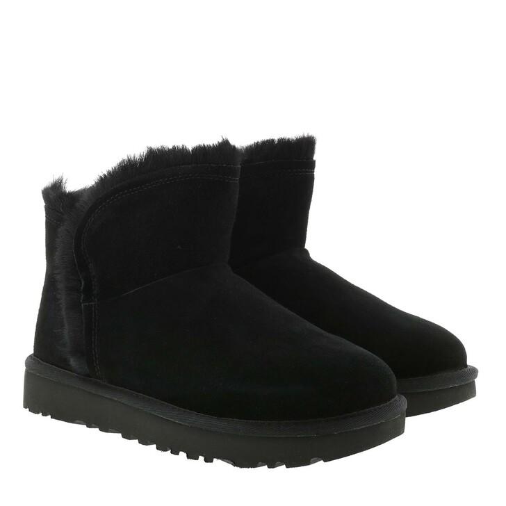 Schuh, UGG, W Classic Mini Fluff High-Low Black