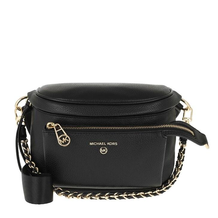 bags, MICHAEL Michael Kors, Medium Sling Pack Messenger Black