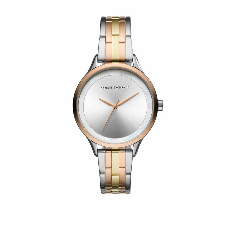 Uhr, Armani Exchange, Ladies Three-Hand Stainless Steel Watch Multicolour