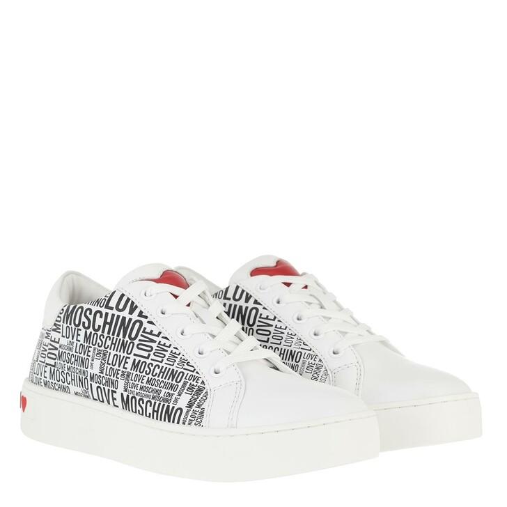 Schuh, Love Moschino, Sneakerd Cassetta35 V Logo Bianco Nero