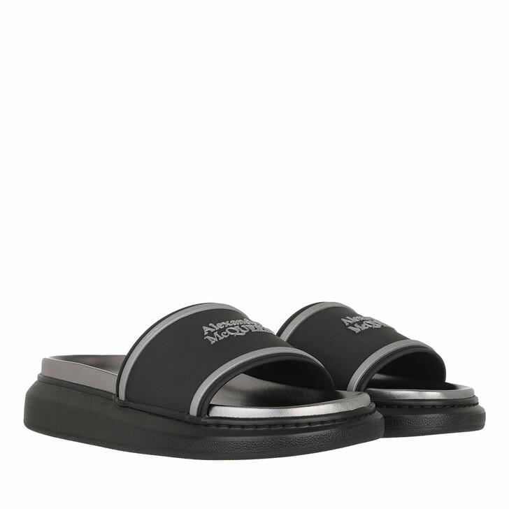 Schuh, Alexander McQueen, Logo Hybrid Oversized Slipper Black