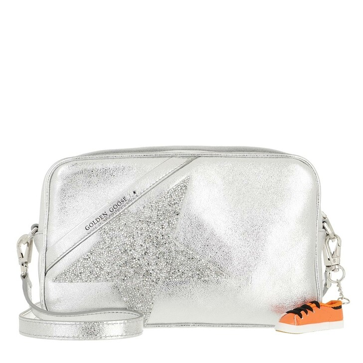 Handtasche, Golden Goose, Star Camera Crossbody Bag Silver