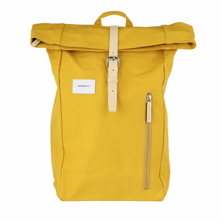 Reisetasche, Sandqvist, Dante Backpacks Leather Yellow Natural
