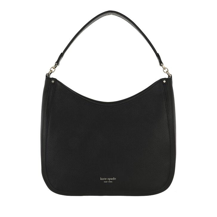 Handtasche, Kate Spade New York, Roulette Large Hobo Bag  Black