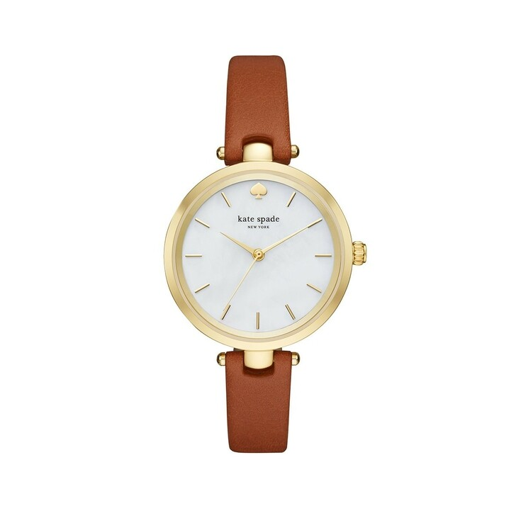 Uhr, Kate Spade New York, KSW1156 Holland Skinny Strap Watch Gold/Luggage