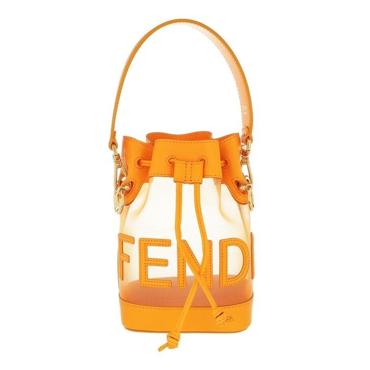 Handtasche, Fendi, Logo Mon Tresor Bucket Bag Orange