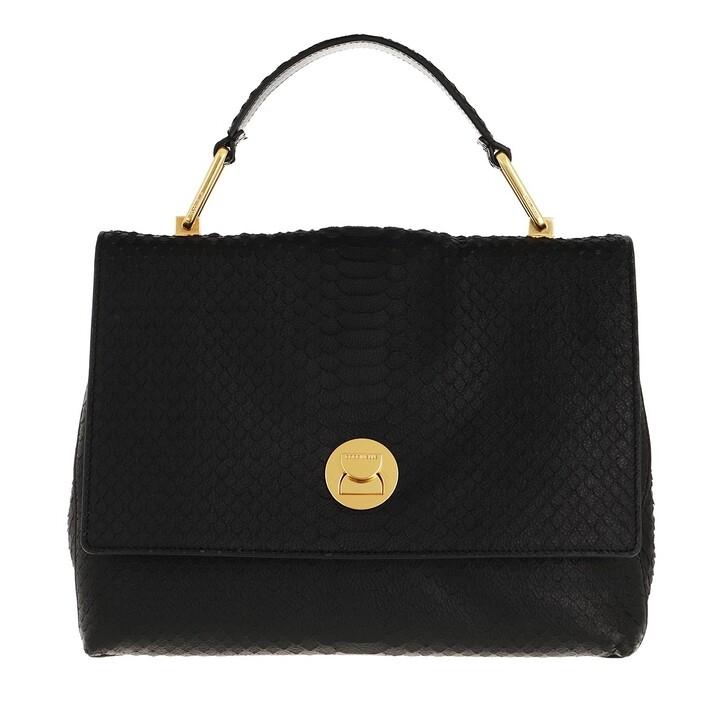 Handtasche, Coccinelle, Liya Python Lulula Satchel Noir