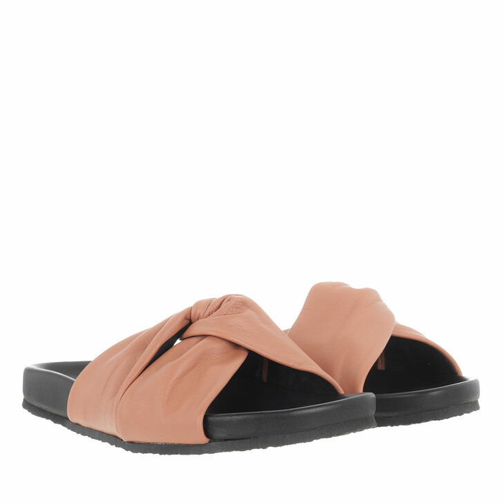 Schuh, Closed, Kyomi Slides Smooth Grainy Leather Antique Rose