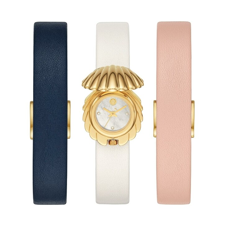 Uhr, Tory Burch, The Shell Watch Set Stainless Steel Gold