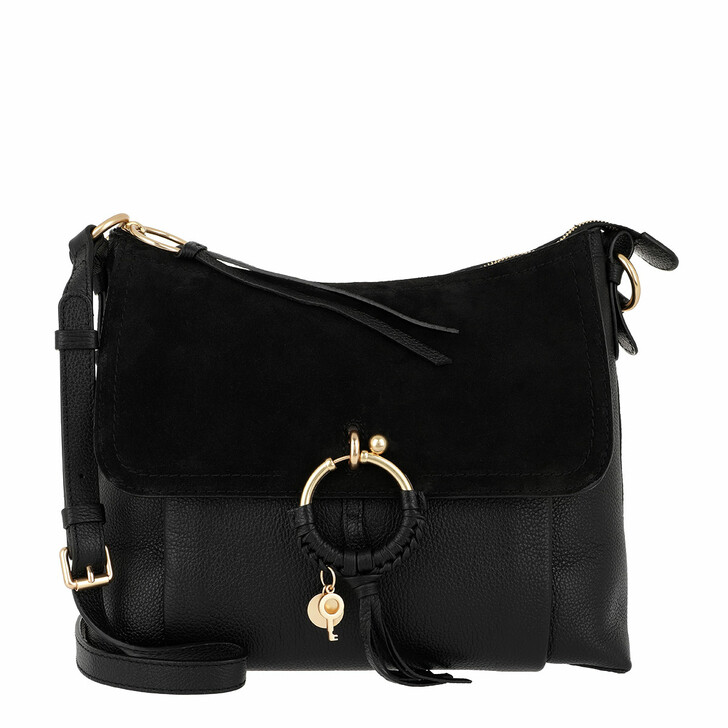 Handtasche, See By Chloé, Joan Grained Leather Bag Black