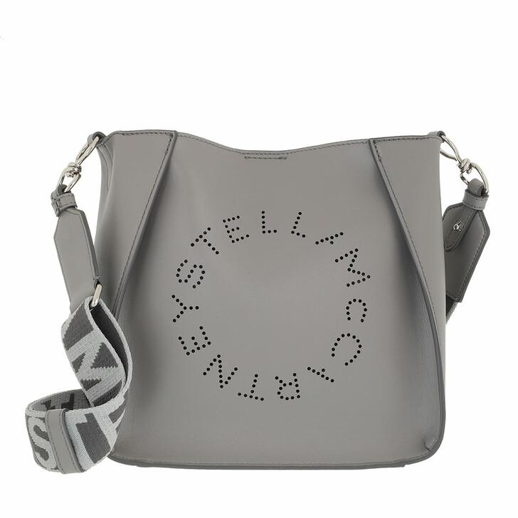 bags, Stella McCartney, Logo Shoulder Bag Smoke