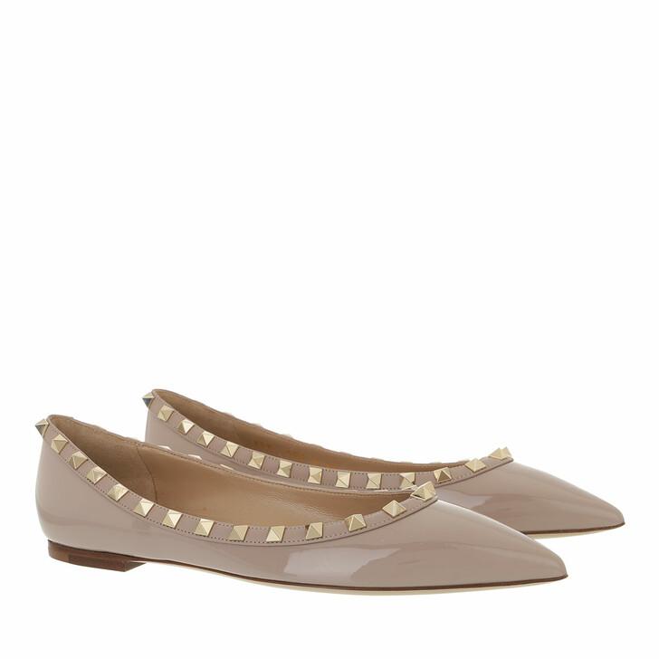 Schuh, Valentino Garavani, Rockstud Ballerina Poudre