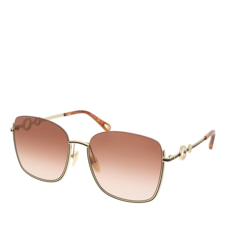 sunglasses, Chloé, CH0070SK-002 59 Sunglass Woman Metal Gold-Gold-Orange