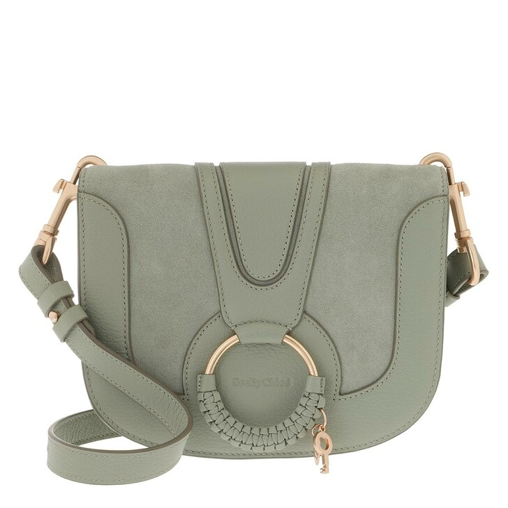 Handtasche, See By Chloé, Hana Crossbody Suede Smooth Forest