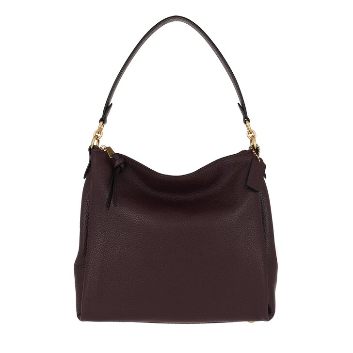 bags, Coach, Soft Pebble Leather Shay Shoulder Bag Oxblood