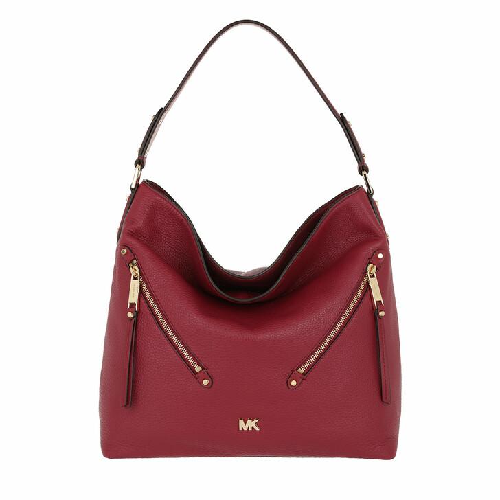 Handtasche, MICHAEL Michael Kors, Evie LG Hobo Bag Maroon